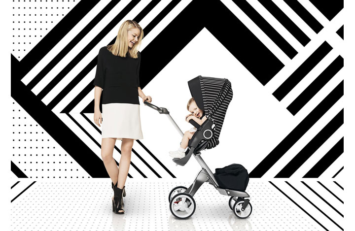 Stokke® Xplory® Black & White Stripes Style Kit