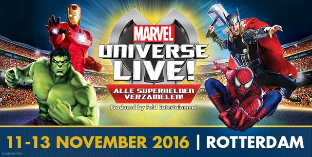 Win 4 tickets voor Marvel Universe LIVE!